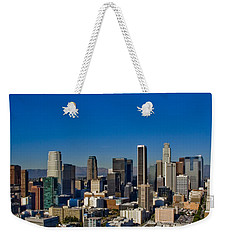 Los Angeles Skyline Weekender Tote Bag by Chris Brannen
