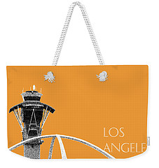 Los Angeles Skyline Lax Spider - Orange Weekender Tote Bag by DB Artist