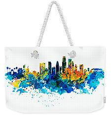 Los Angeles Skyline Weekender Tote Bag by Marian Voicu