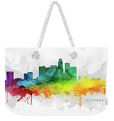 Los Angeles Skyline Mmr-uscala05 Weekender Tote Bag by Aged Pixel