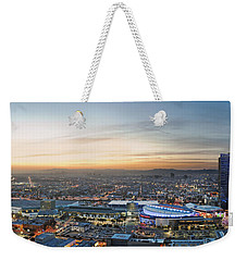 Los Angeles West View Weekender Tote Bag by Kelley King