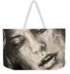 Weekender Tote Bag featuring the photograph Losing Sleep ... by Juergen Weiss