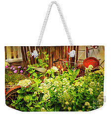 Weekender Tote Bag featuring the photograph Lost Bicycle Of Flowers by Craig J Satterlee