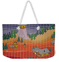 Lost Creek Lodge With Sun Temple Weekender Tote Bag