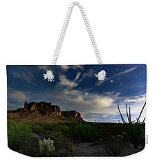 Weekender Tote Bag featuring the photograph Lost Dutchman by Tassanee Angiolillo