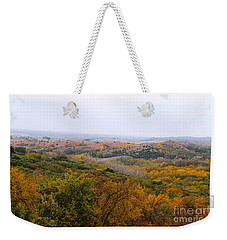 Weekender Tote Bag featuring the photograph Lost In Autumn by Yumi Johnson