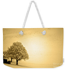 Weekender Tote Bag featuring the photograph Lost In Snow - Winter In Switzerland by Susanne Van Hulst