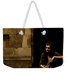 Weekender Tote Bag featuring the photograph A Moment Of Melancholy, Lisbon by Lorraine Devon Wilke