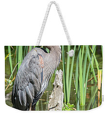 Lost Lagoon Heron Weekender Tote Bag by Ross G Strachan