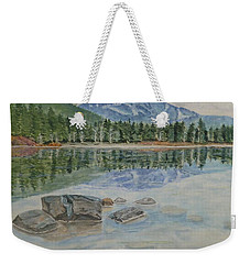 Weekender Tote Bag featuring the painting Lost Lake Whistler Bc Canada by Kelly Mills