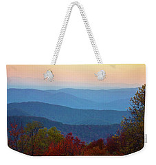Weekender Tote Bag featuring the photograph Lost On The Blueridge by B Wayne Mullins