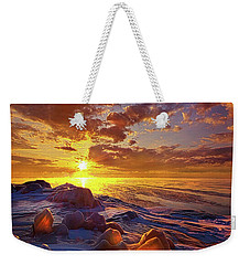 Weekender Tote Bag featuring the photograph Lost Titles, Forgotten Rhymes by Phil Koch