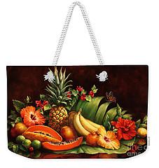 Lots Of Fruit Weekender Tote Bag by Laurie Hein