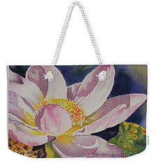 Lotus Bloom Weekender Tote Bag by Mary Haley-Rocks