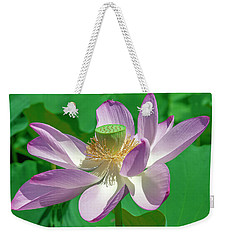 Weekender Tote Bag featuring the photograph Lotus--fading II Dl0080 by Gerry Gantt