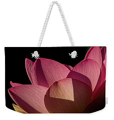 Weekender Tote Bag featuring the photograph Lotus Flower 5 by Buddy Scott
