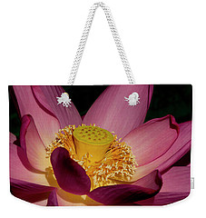 Weekender Tote Bag featuring the photograph Lotus Flower 6 by Buddy Scott