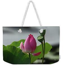 Lotus Flower In Pure Magenta Weekender Tote Bag