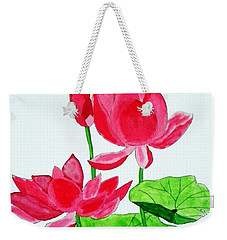 Lotus Flower Weekender Tote Bag