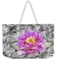 Lotus Flower Weekender Tote Bag