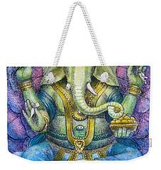 Lotus Ganesha Weekender Tote Bag