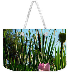 Weekender Tote Bag featuring the photograph Lotus Landscape 2 by Buddy Scott