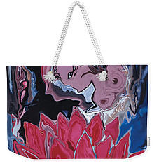Weekender Tote Bag featuring the digital art Lotus Love by Rabi Khan