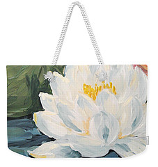 Weekender Tote Bag featuring the painting Lotus by Maria Langgle