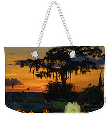 Lotus On Da Bayou Weekender Tote Bag by Kimo Fernandez