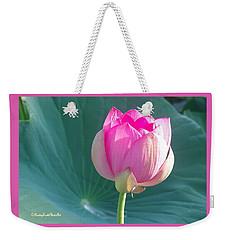 Lotus Pink Weekender Tote Bag