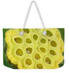 Lotus Pod Weekender Tote Bag