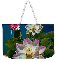 Lotus Pool Weekender Tote Bag