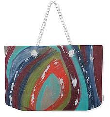 Weekender Tote Bag featuring the painting Lotus Reborn by Sharyn Winters