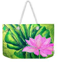 Lotus Weekender Tote Bag by Sylvie Leandre