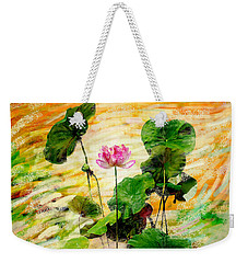Lotus Tree In Big Jar Weekender Tote Bag