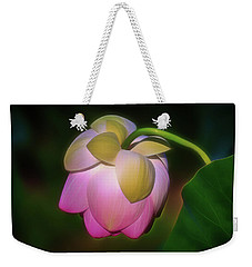 Lotus, Upside Down  Weekender Tote Bag