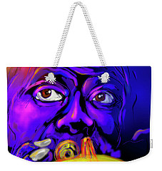 Weekender Tote Bag featuring the painting Louie by DC Langer