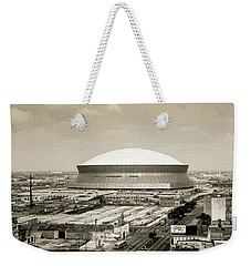 Weekender Tote Bag featuring the photograph Louisiana Superdome by KG Thienemann