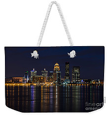 Weekender Tote Bag featuring the photograph Louisville Skyline by Andrea Silies