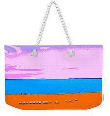 Lounge Chairs On The Beach Weekender Tote Bag