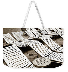 Weekender Tote Bag featuring the photograph Lounging Lines by Marilyn Hunt