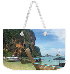 Lounging Longboats Weekender Tote Bag