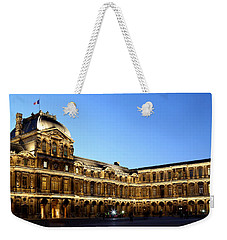 Weekender Tote Bag featuring the photograph Louvre At Night 1 by Andrew Fare