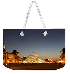 Weekender Tote Bag featuring the photograph Louvre At Night 2 by Andrew Fare