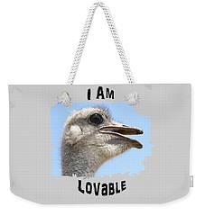 Lovable Weekender Tote Bag by Judi Saunders