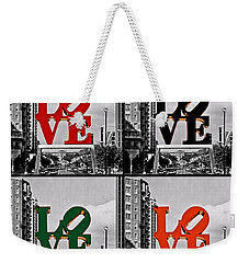 Weekender Tote Bag featuring the photograph Love 4 All by DJ Florek
