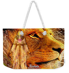 Weekender Tote Bag featuring the digital art Love 444 Cecil by Barbara Tristan
