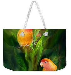 Love Among The Bananas Weekender Tote Bag by Carol Cavalaris