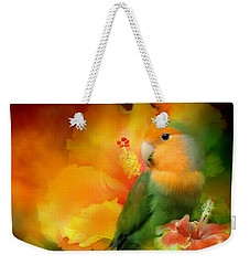 Love Among The Hibiscus Weekender Tote Bag by Carol Cavalaris