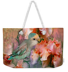 Love Among The Irises Weekender Tote Bag by Carol Cavalaris